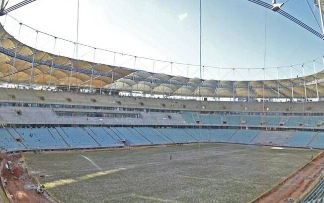 Cobertura da Fonte Nova já está concluída. Entre os estádios que não estão prontos, é que apresenta mais avanços