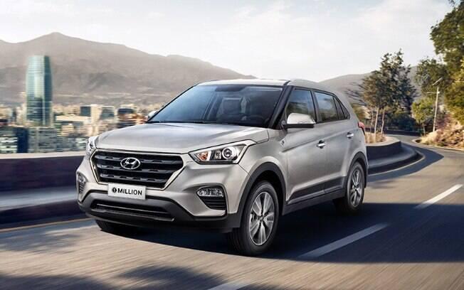 Hyundai Creta volta a ser o SUV mais vendido do mês, superando o Honda HR-V