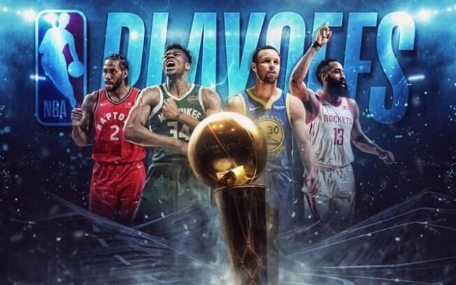 Playoffs da NBA 2019 começam no próximo sábado (13) com 16 equipes disputam duas vagas para as finais