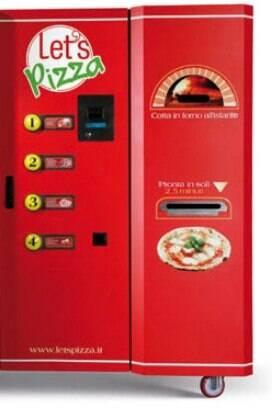 20ddc43f184 Máquina da Let´s Pizza vende pizzas quentes que ficam prontas em poucos  minutos.