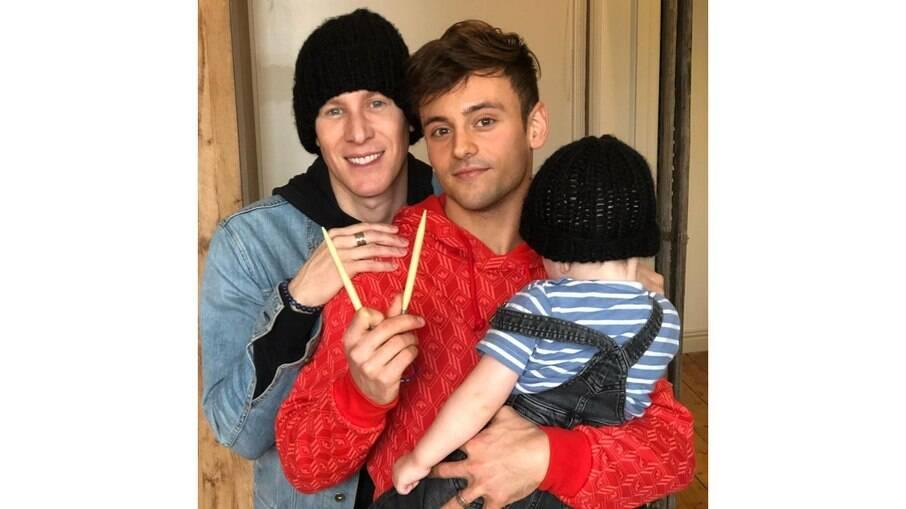 Tom Daley, Dustin Black e o filho