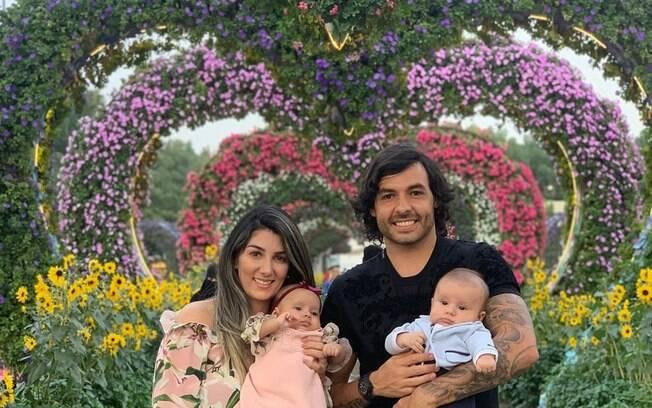 Ricardo Goulart com a família