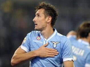 Klose anotou um dos gols da vitória da Lazio neste domingo