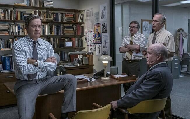 Tom Hanks como o editor-chefe do The Washington Post, Ben Bradlee, em cena do novo filme de Steven Spielberg,