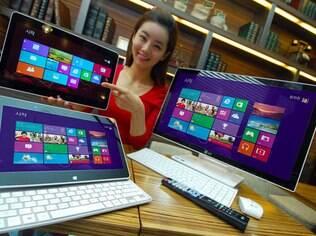 Formatos diferentes de notebooks com Windows 8 não ajudaram a revigorar o mercado