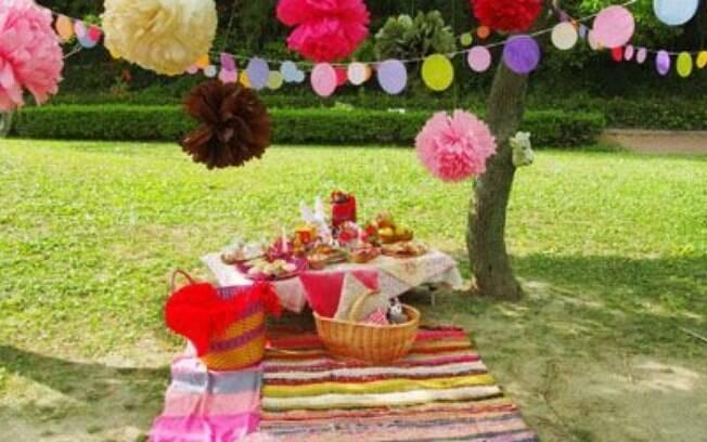 Piquenique também pode ser festa de aniversário
