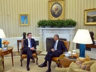 David Cameron e Barack Obama se reúnem para discutir interesses dos dois países
