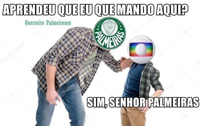 Meme do acerto do Palmeiras com a Globo