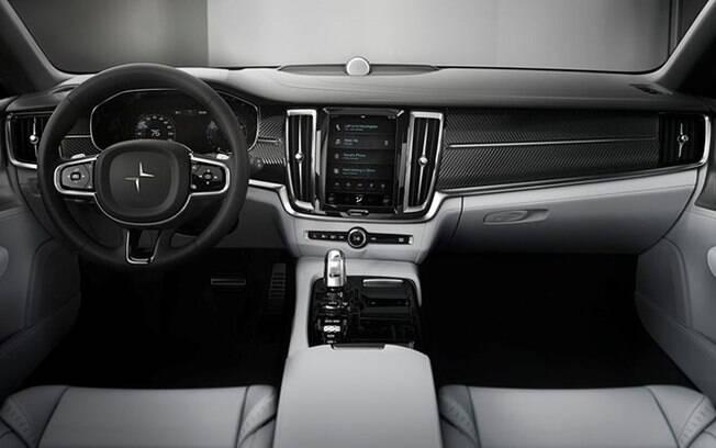 Volvo Polestar 1: interior segue o estilo dos novos XC90 e XC60, com ampla tela do sistema multimídia