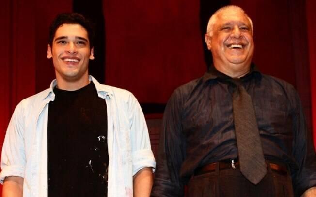 Filho e pai: Bruno e Antonio Fagundes em cena com a peça
