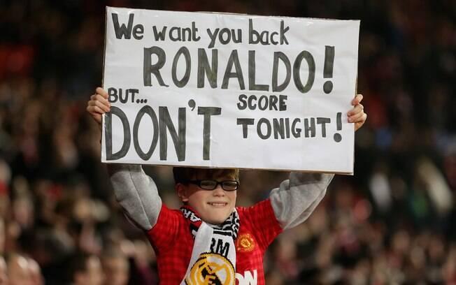 Criança quer o retorno de CR7 ao United, mas  pede que ele não faça gols