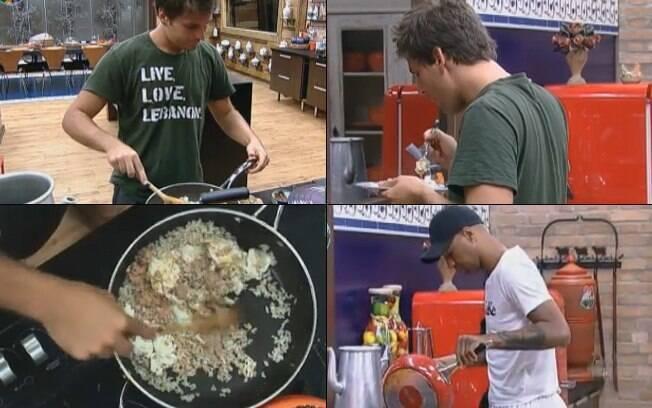 Thiago Gagliasso e Dinei almoçaram juntos