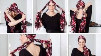 4 formas de amarrar lenços para quem está em tratamento