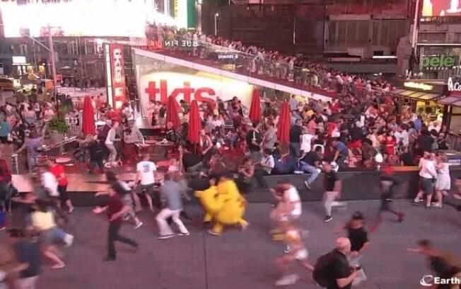 Barulho de moto causou tumulto na Times Square