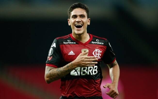 Pedro comemora gol do Flamengo