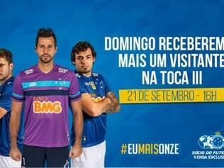 Cruzeiro minimiza importância do jogo contra o Atlético em peça publicitária