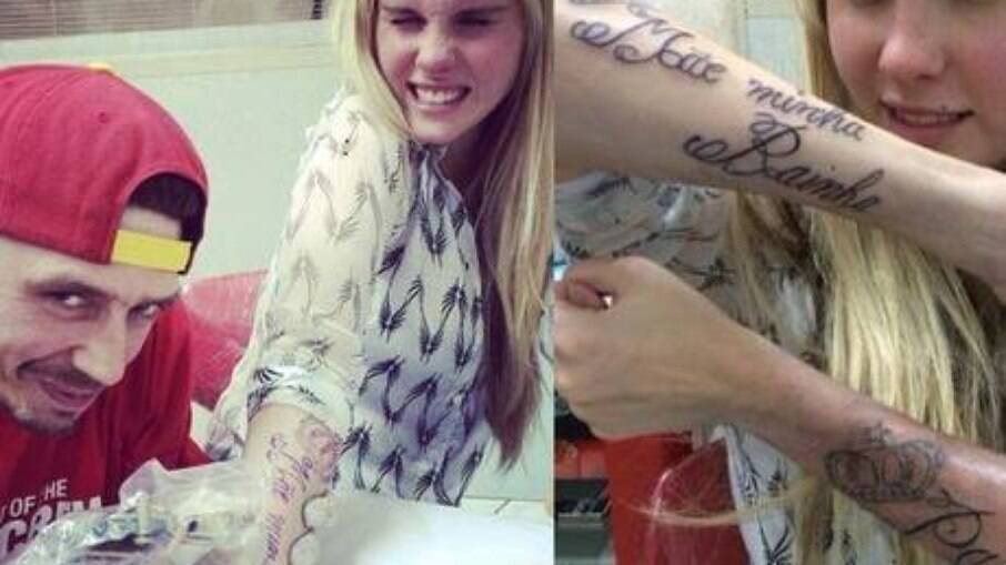 Tatuagem virou meme pela palavra 'rainha' se confundir com 'bainha'