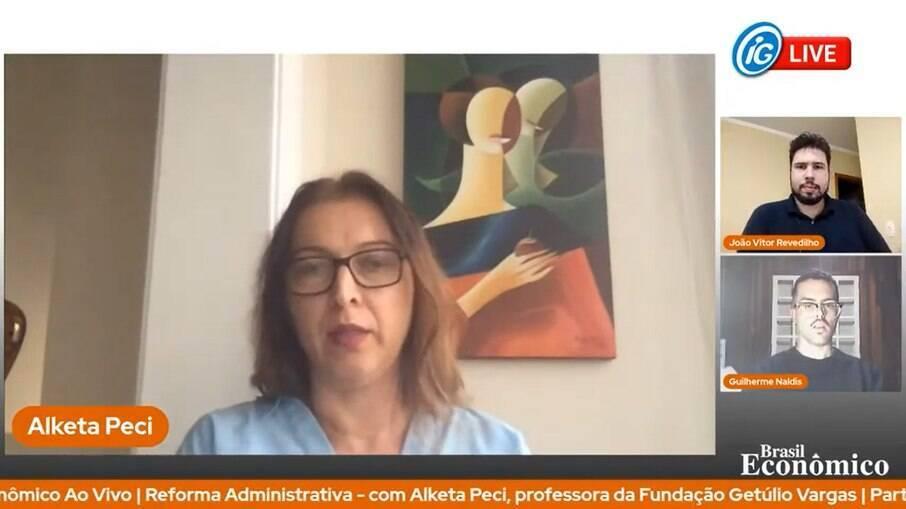 A especialista em administração e burocracia estatal foi a entrevistada do Brasil Econômico ao Vivo desta quinta-feira (10)