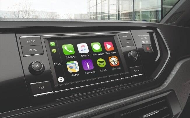 Central multimídia que equipa VW Polo Sense e Virtus Sense promete ser um dos elementos mais atrativos