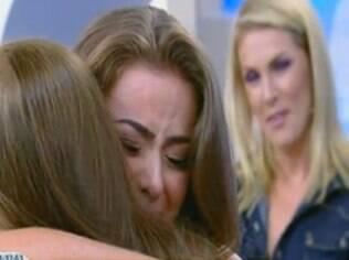 Ela reencontrou a mãe, Terezinha, que não via há quase três meses
