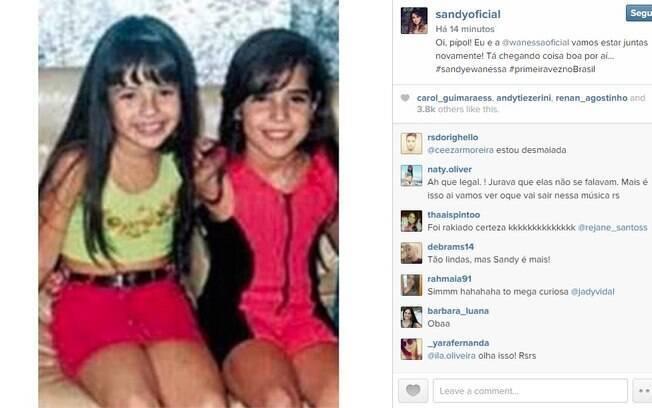 Sandy e Wanessa anunciam parceria