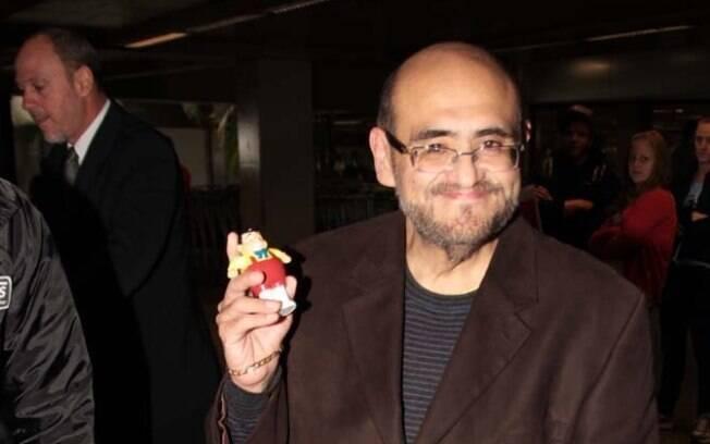 Edgar Vivar ganhou uma miniatura do Nhonho, um dos personagens que ele interpreta no