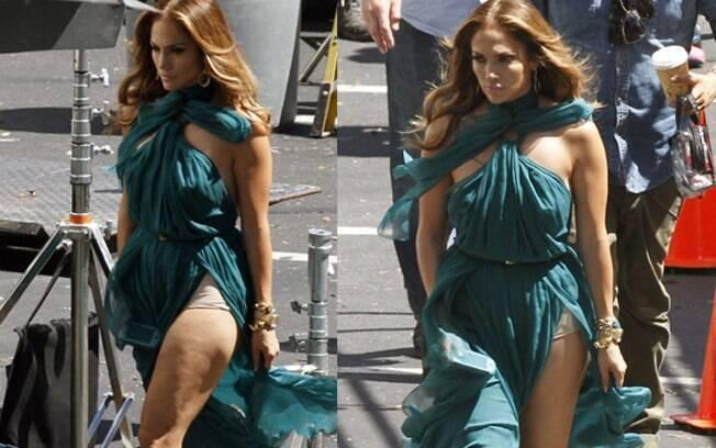 Jennifer Lopez e sua calcinha estilo Bridget Jones