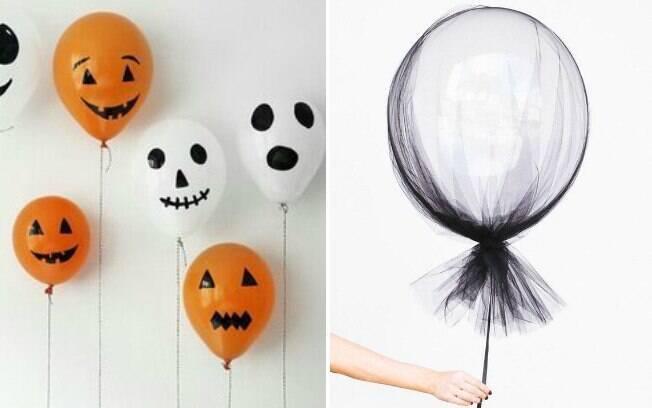 Os balões temáticos podem abrilhantar sua festa de Halloween