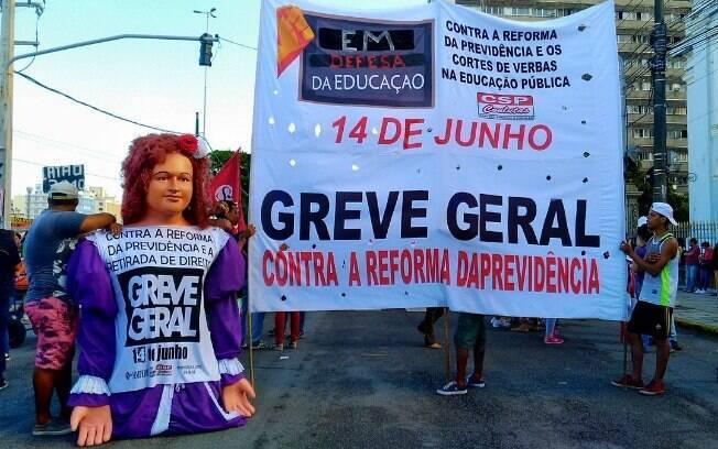 O endosso aos protestos pela educação estava previsto na agenda montada pelas centrais sindicais até o dia da greve geral