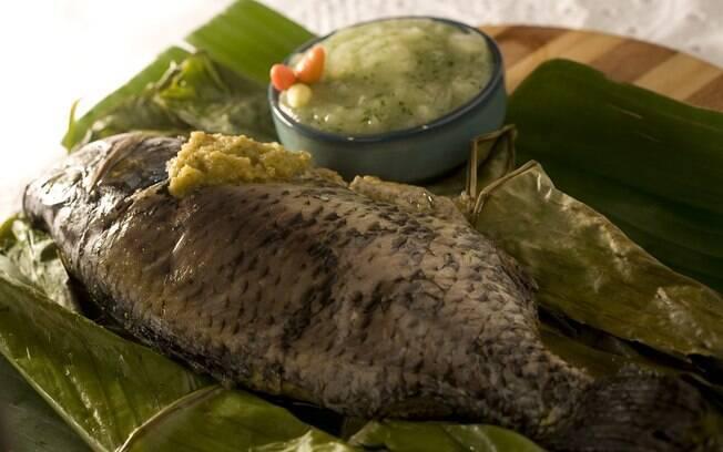 Foto da receita Moqueca de peixe com pirão pronta.