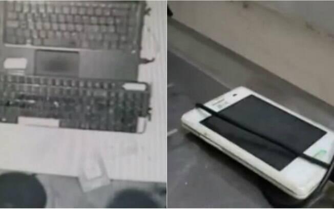 Celulares foram roubados, mas aparelho de ladrão foi esquecido no carregador