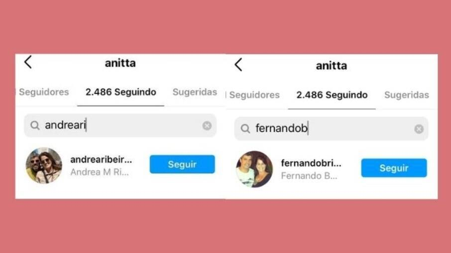 Anitta está seguindo os pais de Lipe
