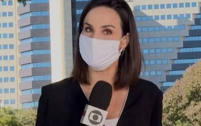 Flávia Alvarenga acabou cometendo uma gafe ao vivo no