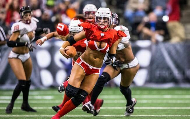 42e4226e89bb6 Pancadaria e lingerie  acabou a NFL feminina - Mais Esportes - iG