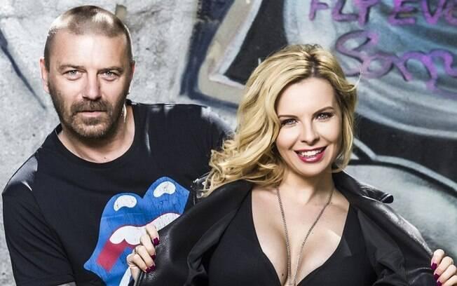Ex-jogador Tomas Repka com Katerina Kristelova, sua atual mulher