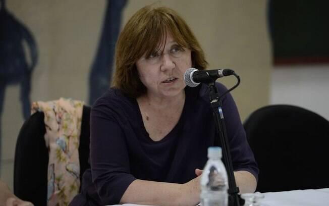 A bielorrussa veio ao Brasil para falar de seu livro