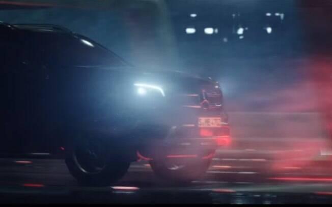 Imagem do vídeo teaser da Mercedes Classe X mostra que a picape terá frente parecida com a dos SUVs da marca alemã