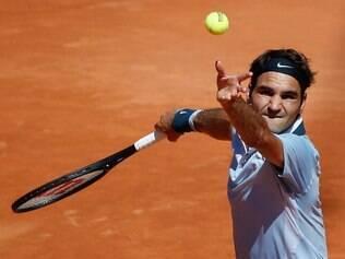 Federer foi batido pelo placar de 2 sets a 0