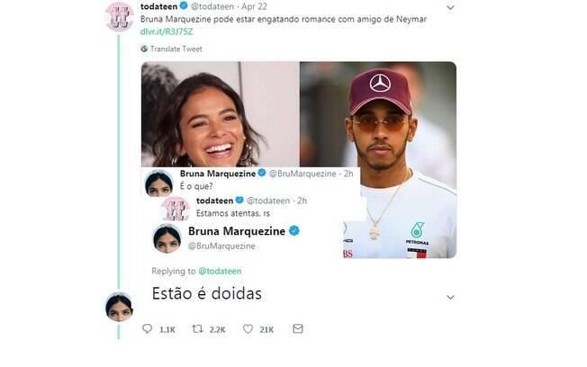 Bruna Marquezine desmente affair com Lewis Hamilton