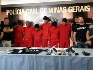 Apresentação dos presos na Operação Guardião aconteceu nesta segunda-feira (9)