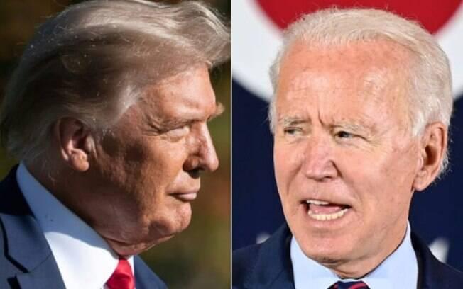 Donald Trump e Joe Biden participaram de debates em emissoras diferentes nesta quinta (15)