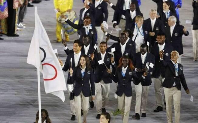 Equipe de Refugiados que disputou as Olimpíadas no Rio em 2016