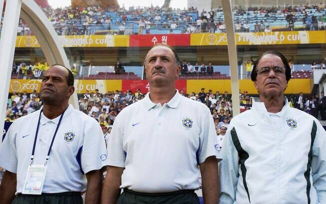 Felipão comandou a seleção brasileira na Copa  do Mundo de 2002