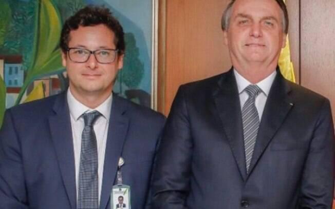 Fábio Wajngarten e Bolsonaro