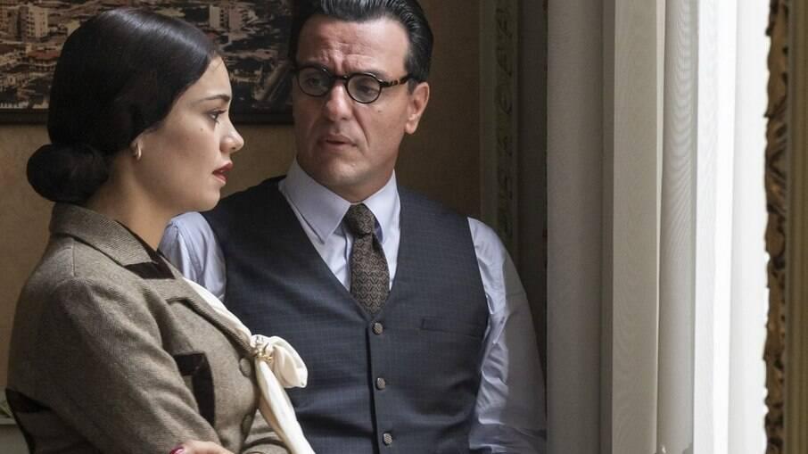 Rodrigo Lombardi e Sophie Charlotte interpretam Aracy de Carvalho e João Guimarães Rosa na série