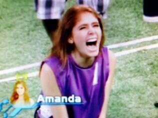 Amanda é a primeira líder do reality