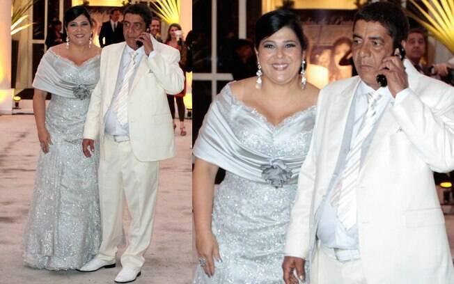 Zeca Pagodinho e Mônica renovaram os votos depois de 25 anos