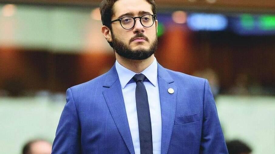 Vereador Gabriel Azevedo (sem partido), após ser expulso do Patriota
