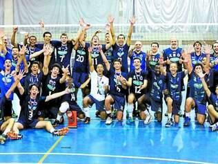 Base vencedora.  Na última quarta-feira, o time infanto do Sada Cruzeiro foi campeão do Metropolitano derrotando o Minas na decisão