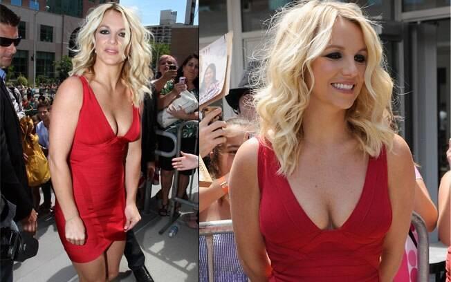 Britney Spears e seu microvestido bandagem